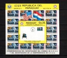 Paraguay 1976 Space US Bicentennial S/s MNH - Zuid-Amerika