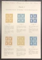 France - Gravure - Collection Historique Du Timbre - Planche 4 - Cérès - 1870 à 1871 - Postdokumente