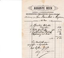 KRONENBURG AUGUSTE BECK HANDELS BAUMSCHULGARTNEREI KRONENBURG STRASSBURG CENTRAL FRIEDHEF ANNEE 1896 - Allemagne