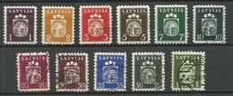 LETTLAND Latvia 1940 Michel 281 - 291 */o - Latvia