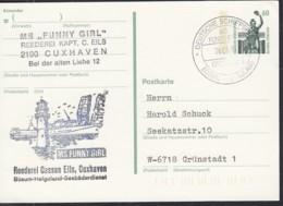 """Deutsche SCHIFFSPOST MS """"Fanny Girl"""" Büsum-Helgoland, Reederei Cassen Eils, 26.6.1991 Auf PK P 141 - Marítimo"""