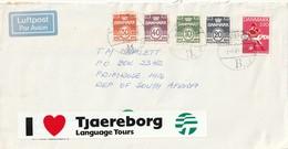 Denmark Cover South Africa - 1989 - Danish Soccer Association Wavy Lines And Numerals - Dänemark