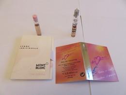 Echantillon ,tube Sur Carton Naf Naf, Mont Blanc - Perfume Samples (testers)