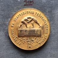 Medal Plaque Plakette PL000127 - Wrestling Yugoslavia Federation Reward V. VASOVIC 1955-08-23 - Wrestling