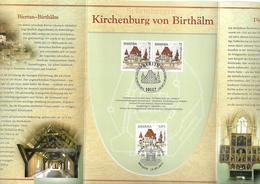 2011 Joint/Gemeinschaftsausgabe Germany And Romania, OFFICIAL MIXED FDC SOUVENIR FOLDER: Fortified Church Of Biertan - Gemeinschaftsausgaben