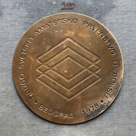 Medal Plaque Plakette PL000134 - Boxing Yugoslavia Serbia Beograd (Belgrade) World Championships 1978 - Boksen