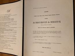 Comte De Brouchoven De Bergeyck époux De Gruben Agnes *1901 Beveren Waas +1966 Anvers Boisschot De.Borrekens De Neeff - Décès