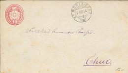 Tübli-Brief 1874  St. Moritz Dorf - Brief Nach Chur - Mit Wasserzeichen Relief - Interi Postali