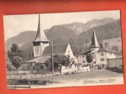 ML-02  Rougemont Eglise Et Château.  Jullien  Circulé 1911 - VD Vaud