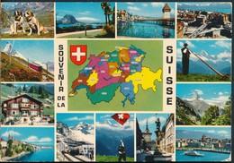 °°° 19428 - SVIZZERA - VS - SOUVENIR DE LA SUISSE - 1972 With Stamps °°° - Svizzera