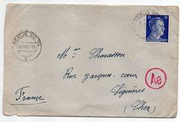 Allemagne -- 1943-- Tp N° 717 Sur Lettre  De Berlin N° 74   Pour LIGNIERES-18 (France)....cachet Ae........à Saisir - Brieven En Documenten