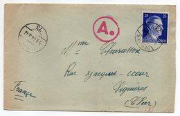 Allemagne -- 1943-- Tp N° 717 Sur Lettre  De Berlin W -N° 73   Pour LIGNIERES-18 (France)....cachet Ae........à Saisir - Brieven En Documenten