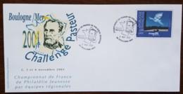 PAP - CHAMPIONNAT DE FRANCE DE PHILATLIE JEUNESSE / PASTEUR - BOULOGNE SUR MER - 2001 - France