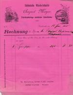 KARLSRUHE AUGUST MAYER SUDDEUTSHE WASCHE INDUSTRIE FABRIKNIEDERLAGE SAMTLICHER UNTERKLEIDER ANNEE 1900 - Allemagne