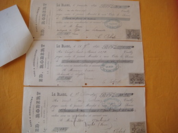 36 - Le Blanc - Ed. ROBERT - Commissionnaire En Vins Et Assurances  - Année 1893/1894/1895 - France