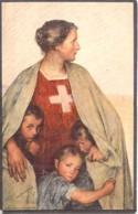 SUISSE Swiss Switzerland - CARTE DE LA FETE NATIONALE En FAVEUR De La CROIX ROUGE (1917)  CPA - Schweiz - Croix-Rouge