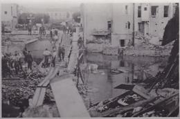 PHOTO ORIGINALE 39 / 45 WW2 WEHRMACHT FRANCE LUNEVILLE RECONSTRUCTION D UN PONT APRES LES BOMBARDEMENTS - Oorlog, Militair