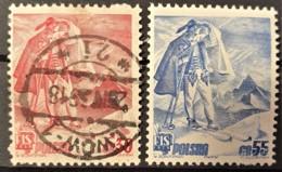 POLAND 1939 - MLH/canceled - Sc# 337, 338 - Int. Ski Meeting Zakopane - Oblitérés