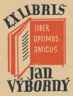 Ex Libris Jan Výborný - Jaroslav Šváb (1906-1999) - Ex Libris