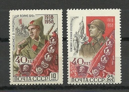 RUSSLAND RUSSIA 1958 Michel 2160 & 2162 MNH - Nuevos