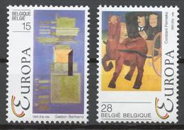 Belgium 1993 Mi# 2553-54** EUROPA CEPT, CONTEMPORARY PAINTINGS - Unused Stamps