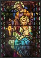 8782 - Klappkarte - Weihnachtskrippe Krippe Geburt Christi - Glasmalerei - Auguri - Feste