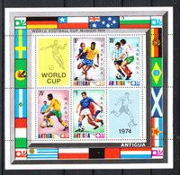 Barbuda   - 1974. Giocatori In Azione.  Players In Action. Fresh. MNH Sheet - Coppa Del Mondo