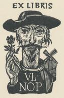 Ex Libris Vl. Nop (Don Quichote) - Jaroslav Vodrážka (1894-1984) - Ex-libris