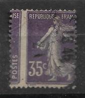 France N° 142 Oblitéré Variété Piquage à Cheval. - Errors & Oddities