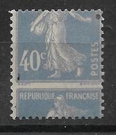 France N° 237* Variété Piquage à Cheval. (spectaculaire). - Errors & Oddities