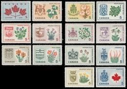 Canada (Scott No. 417-29A - Fleurs Provinciales / Provincial Flowers) (o) Serie / Set Of  14 - 1952-.... Reign Of Elizabeth II