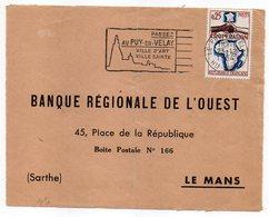 """1964 --Flamme  LE PUY EN VELAY -43 """" Ville D'art-Ville Sainte """"  Tp  Coopération ......à Saisir - Marcophilie (Lettres)"""