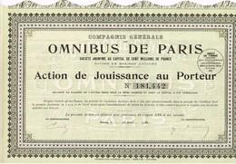 - Titre Ancien - Compagnie Générale Des Omnibus De Paris Sté Anonyme  -  Titre De 1930 N°181442 - Transports