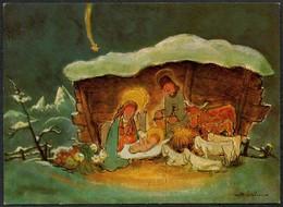 D4319 - Michael Lochner Glückwunschkarte - Weihnachten - Weihnachtskrippe Krippe - Natale