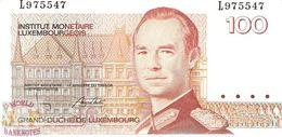1993 Pick 58b Q-Prefix UNC Luxembourg 100 Francs, 1986