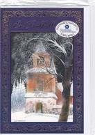 Postal Stationery - Bird - Church In Winter Landscape - Cancer Foundation - Suomi Finland - Postage Paid - Finlandia