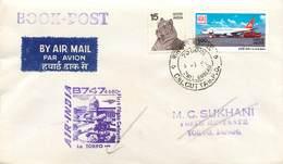 """LETTRE 1 ER VOL / INDES """"Calcutta / Tokyo, 7 Janvier 1980"""" - Airmail"""