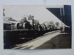 TURQUIE Gare De MAKRI-KEUY Carte-photo En état Concours - Départ Pour Le Défilé Du 14 Juillet (502/506èmes RCC) DEN1164 - Turquie