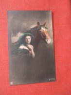 RPPC  Female With Horse   Ref 3939 - Pferde