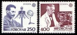 Faroe Island 1983 MNH 2v, Nobel Medicine, Fleming, Niels Finsen, Europa CEPT - Nobel Prize Laureates