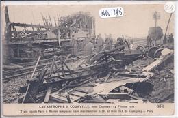 COURVILLE- LA CATASTROPHE- 1911- TRAIN RAPIDE PARIS-RENNES A TAMPONNE LE TRAIN DE GUINGAMP A PARIS- ELD - Courville