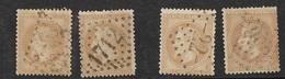 France   N°28A  X; 28B  X 2 Oblitérés  B/ TB  Gros Chiffres      ... Soldé à Moins De 10  % ! ! ! - 1863-1870 Napoleon III With Laurels
