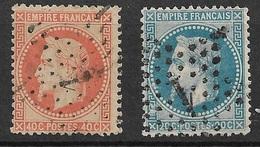 France   N°29B    Et 31  Oblitérés  B/ TB  étoilede Paris   1        ... Soldé à Moins De 10  % ! ! ! - 1863-1870 Napoleon III With Laurels