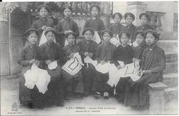 TONKIN - Jeunes Filles Annamites Faisant De La Couture - Vietnam