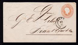 Großherzog Friedrich 9 Kr. Als Firmenbrief (J. Kopp & Cie, Lahr) Mit K2 LAHR  - Baden