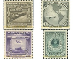 Ref. 352148 * HINGED * - PERU. 1937. INTERNATIONAL AVIATION CONFERENCE . CONFERENCIA INTERNACIONAL DE AVIACION - Pérou