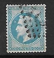 """France   N°29B      Oblitéré  B/ TB   Variété  """" Anneau Lune """"    ... Soldé à Moins De 10  % ! ! ! - 1863-1870 Napoléon III Con Laureles"""