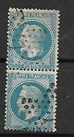 France   Paire  Du N°29B     Oblitérés  B/ TB   étoile De Paris  7       ... Soldé à Moins De 10  % ! ! ! - 1863-1870 Napoleon III With Laurels