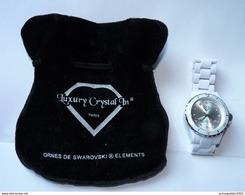BELLE MONTRE FEMME OU HOMME LUXURY CRYSTAL IN AVEC CRISTAUX SWAROVSKI DANS POCHETTE   ETAT NEUVE JAMAIS PORTEE - Horloge: Luxe