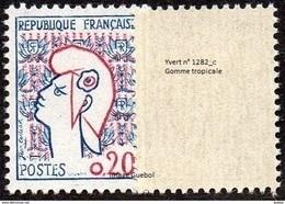 France Marianne De Cocteau N° 1282.c ** Variété, Gomme Tropicale - 1961 Marianne Of Cocteau